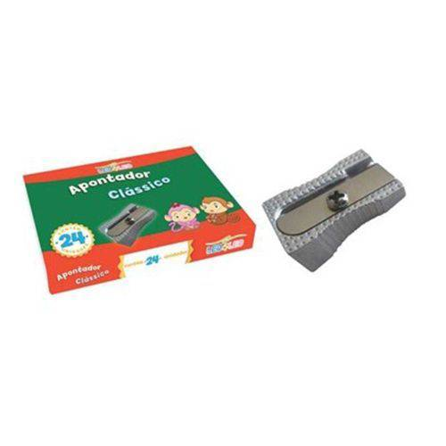 Apontador Clássico Metal - 4207 - Leo&leo - Caixa C/24 Unidades