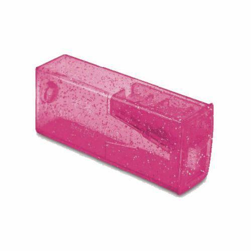 Apontador com Depósito Glitz Faber Castell - Rosa