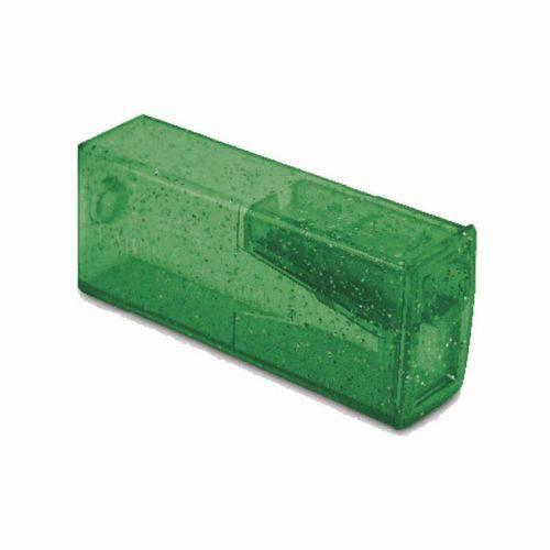 Apontador com Depósito Glitz Faber Castell - Verde