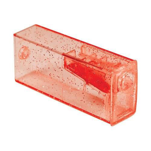 Apontador com Depósito Glitz Vermelho - Faber-Castell