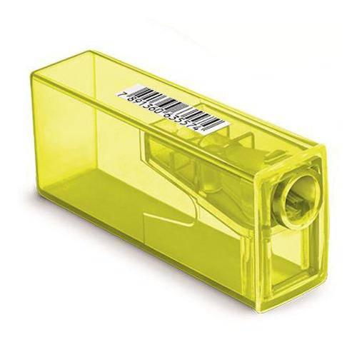 Apontador com Deposito Neon Amarelo Faber Castell 125flvzf