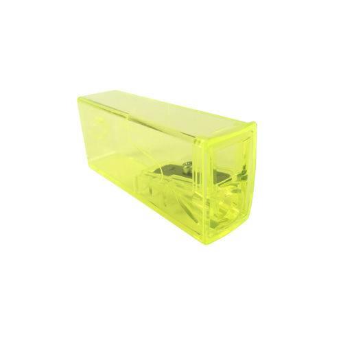 Apontador com Depósito Neon Amarelo - Faber Castell