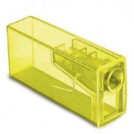 Apontador com Depósito Neon Faber Castell - Amarelo