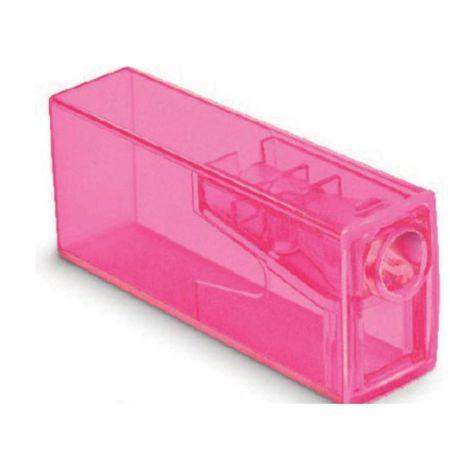 Apontador com Depósito Neon Faber Castell - Rosa