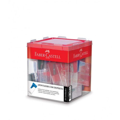 Apontador com Depósito Retangular com 25 Unidades – Faber Castell 1021420