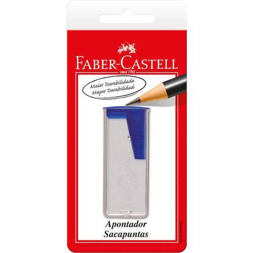 Apontador com Deposito Transparente Plastico Cores Faber-castell Bl.c/01