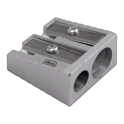 Apontador 2 Furos Sem Depósito Ap06 Metal Tilibra Tilibra