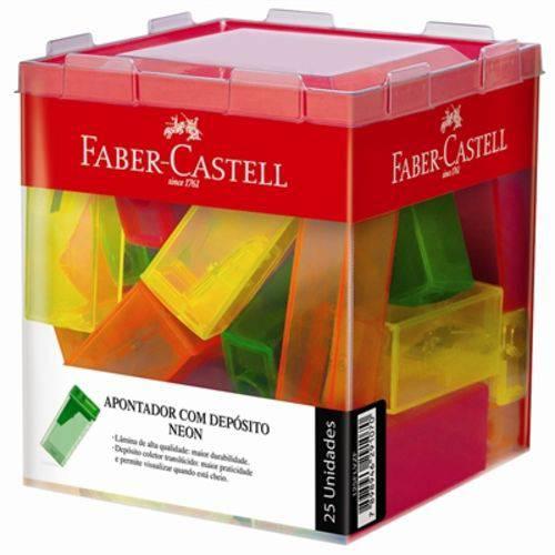 Apontador Neon com Depósito Emb. Contém 25un. Faber Castell