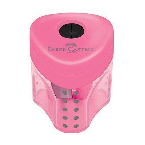 Apontador Rosa Mini Grip com Depósito Faber-castell