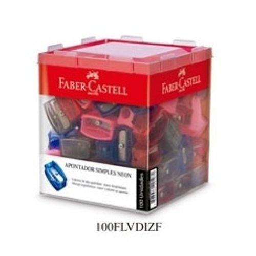 Apontador Simples com 100 Unidades – Faber Castell 1021422