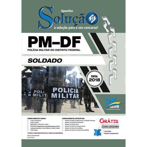Apostila Concurso Pm Df 2018 - Soldado