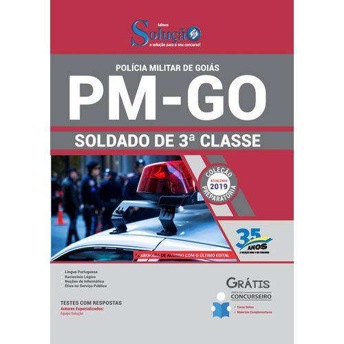 Apostila Concurso Pm Go 2019 - Soldado de 3ª Classe