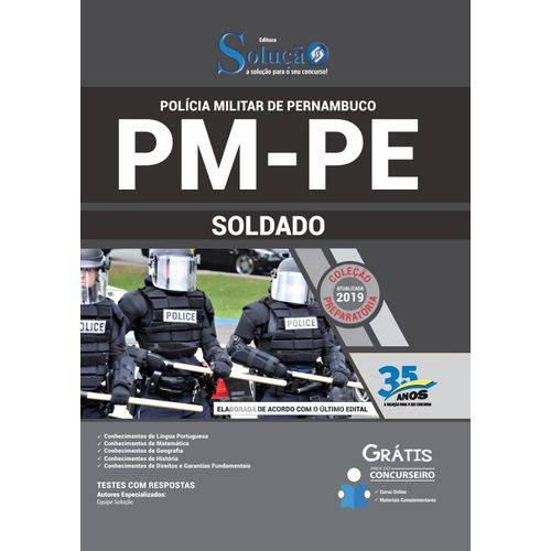 Apostila Concurso Pm Pe 2019 - Soldado