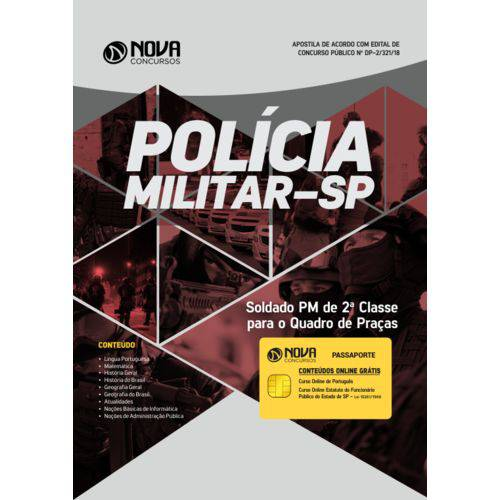 Apostila Concurso Pm Sp 2018 - Soldado Pm 2ª Classe