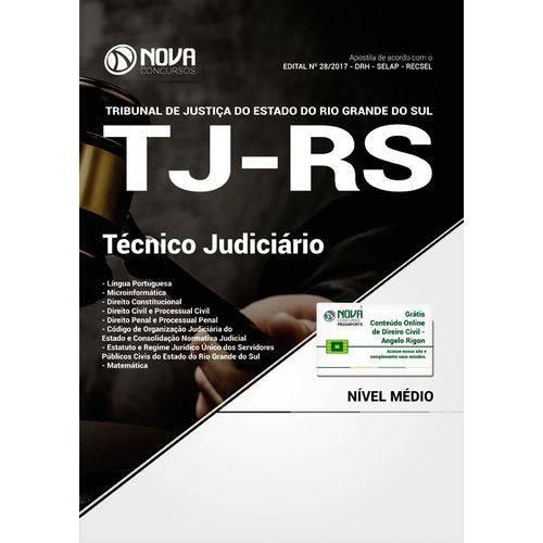 Apostila Concurso Tj Rs 2018 - Técnico Judiciário