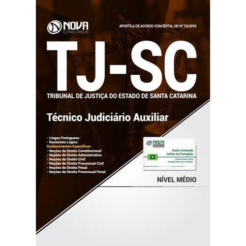 Apostila Concurso Tj Sc 2018 - Técnico Judiciário Auxiliar