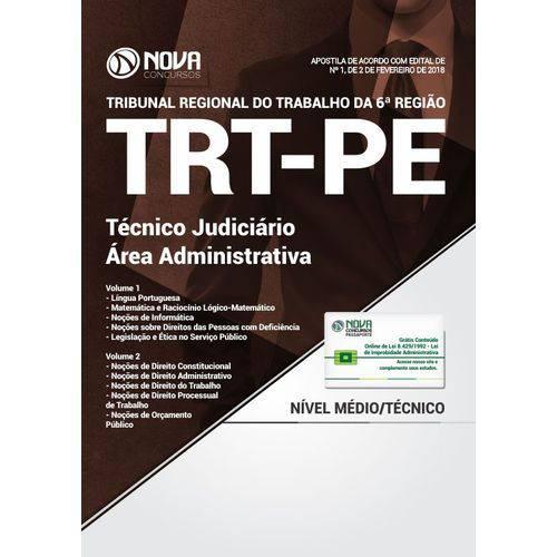 Apostila Concurso Trt Pe 2018 - Técnico Judiciário Área Administrativa