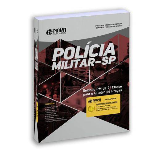 Apostila Pm Sp 2018 Soldado Pm de 2ª Classe