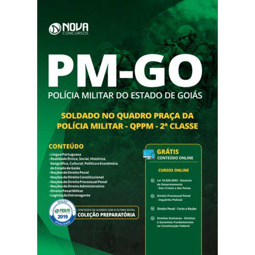 Apostila Preparatória Pm-go 2019 - Soldado no Quadro Praça da Polícia Militar - Qppm - 2ª Classe