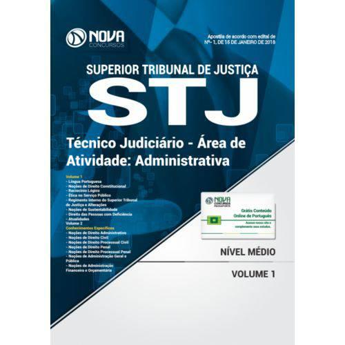 Apostila Stj 2018 - Técnico Judiciário - Área de Atividade: Administrativa
