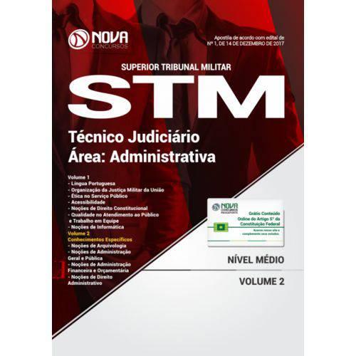 Apostila Stm 2018 - Técnico Judiciário - Área Administrativa