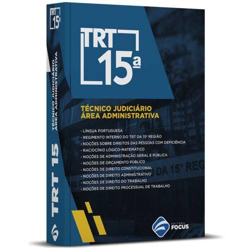Apostila Técnico Judiciário - Área Administrativa - Trt 15 Sp