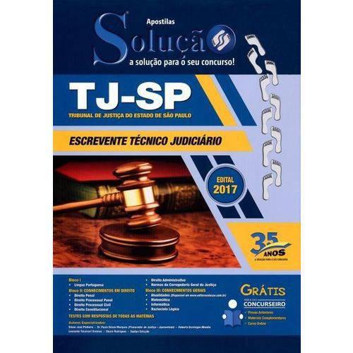 Apostila - Tj-Sp - Escrevente Técnico Judiciário - 2017