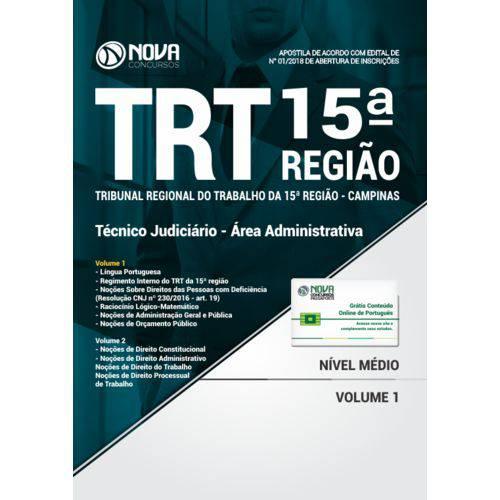 Apostila Trt 15ª Região Campinas - Técnico Judiciário