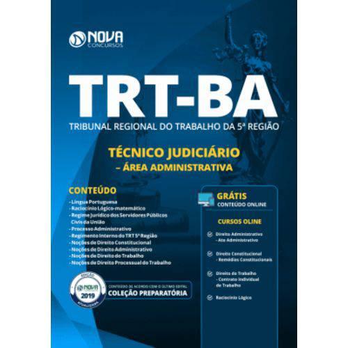 Apostila Trt-ba 2019-técnico Judiciário-área Administrativa