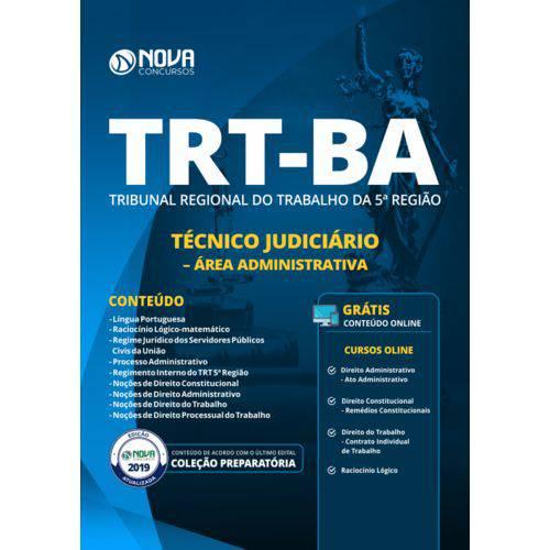 Apostila Trt Ba 5 Região 2019 - Técnico Judiciário