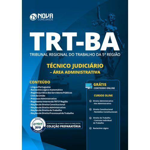 Apostila Trt-ba 2019 Técnico Judiciário Área Administrativa