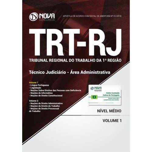 Apostila Trt-Rj Técnico Judiciário - Área Administrativa