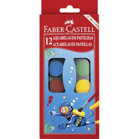 Aquarela em 12 Cores Faber Castell + Pincel