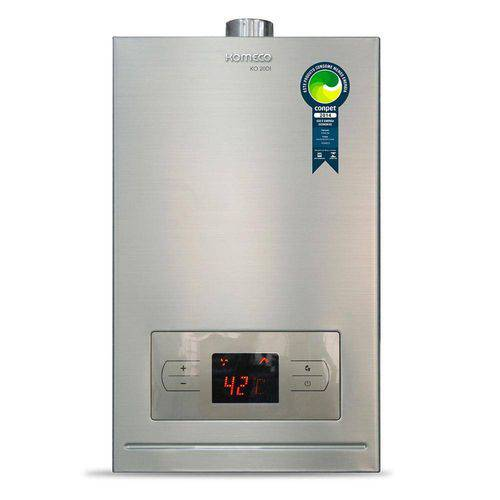 Aquecedor a Gás Komeco Automático Digital 20DI GN 20L Inox Gás Natural Encanado Concessionaria