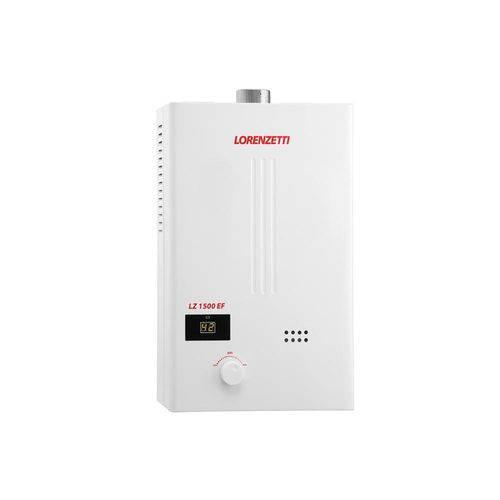 Aquecedor de Água a Gás Digital Bivolt Lz 1500ef Gn Branco