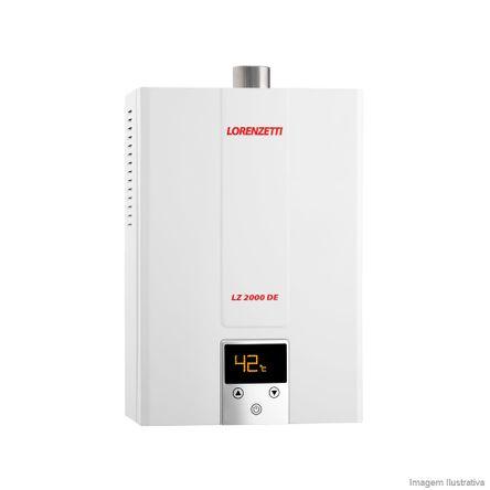 Aquecedor de Água a Gás GN LZ 2000DE Vazão 20,0 L/min Branco Lorenzetti