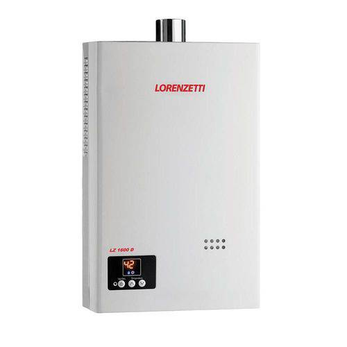 Aquecedor de Água a Gás GN LZ 1600D - 7412100 - LORENZETTI