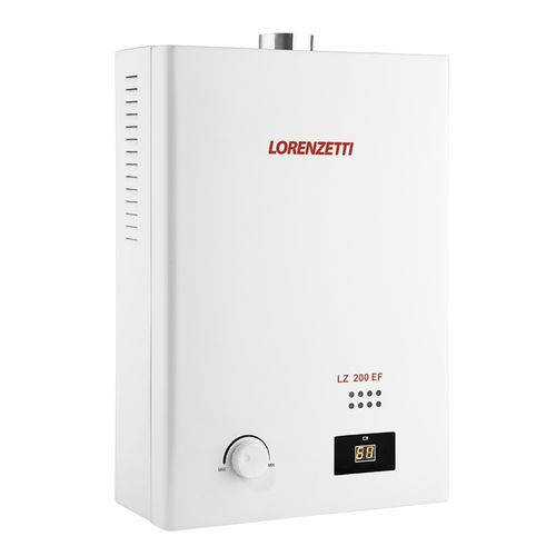Aquecedor de Agua a Gas Lorenzetti Lz 200ef Glp Bivolt