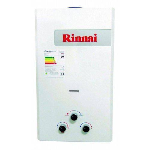 Aquecedor de Água Gás GLP Rinnai REU-158 BR FE, 14,5 Litros, Exaustão Forçada