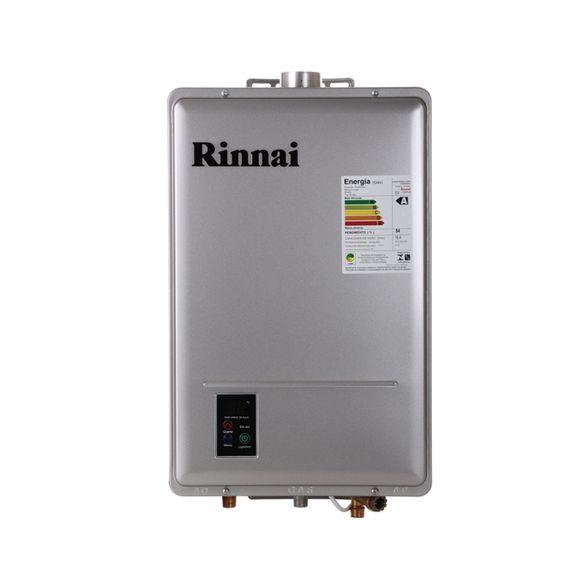 Aquecedor Digital Gas 17L REU1302FEH Rinnai GN Aquecedor Digital Gas 17L REU1302FEH Rinnai Prata GN
