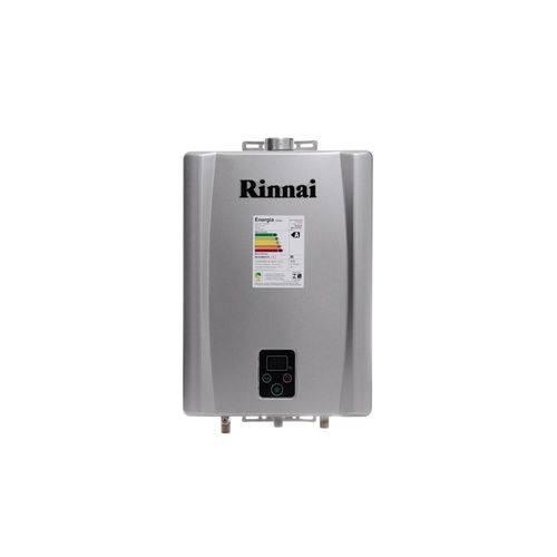 Aquecedor Digital Gas 17l Reue170fehg Glp Prata Rinnai