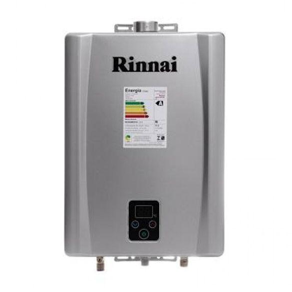 Aquecedor Digital Gas 17L REUE170FEHG Prata Rinnai GLP