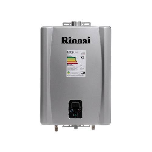 Aquecedor Digital Gas 17L REUE170FEHG Rinnai GLP PRATA