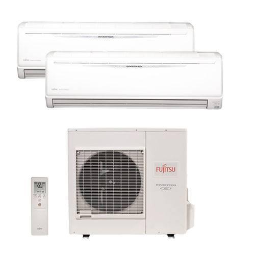 Ar Condicionado Bi Split Inverter Fujitsu 2x24000 Btus Quente/frio 220v 1f Aobg36lbta4