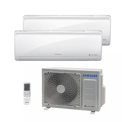 Ar Condicionado Multi Bi Split Hw Inverter Samsung 2x9000 Btus Quente/frio 220v 1f Aj017ncj2ch/az
