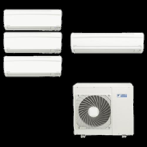 Ar Condicionado Multi Split Daikin 34.000 BTUs (3x Evap HW 12.000 BTUs + 1x Evap HW 18.000) Quente/Frio 220V
