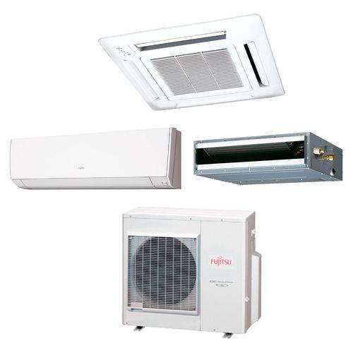 Ar Condicionado Multi Split Fujitsu 35.000 Btus (1x Evap Hw 12.000 + 1x Evap Cassete 4 Vias 12.000 + 1x Evap Duto18.000) Quente/frio 220v