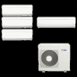 Ar Condicionado Multi Split Inverter Daikin 34.000 BTUs (3x Evap HW 12.000 BTUs + 1x Evap HW 18.000) Quente/Frio 220V