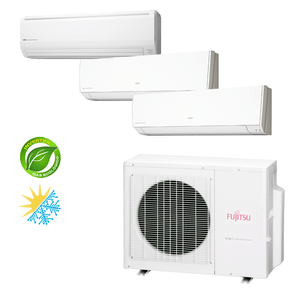 Ar Condicionado Multi Split Inverter Fujitsu 23.000 BTU/h (2x 9.000 1x 18.000) Quente/Frio 220V