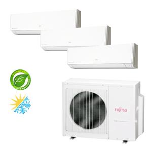 Ar Condicionado Multi Split Inverter Fujitsu 18.000 BTU/h (3x 9.000) Quente/Frio 220V